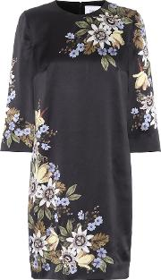 Emma Floral Printed Silk Dress