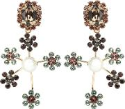 Floral Cluster Clip On Earrings