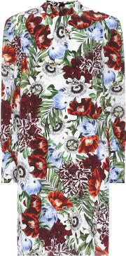 Mirela Floral Printed Silk Dress