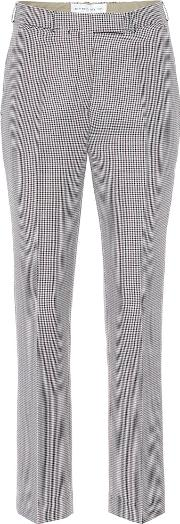 Houndstooth Wool And Mohair Pants