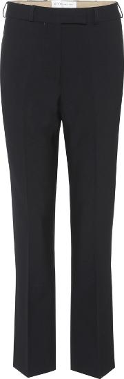 Mid Rise Wool Trousers