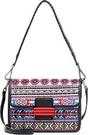 Rainbow Raffia Shoulder Bag