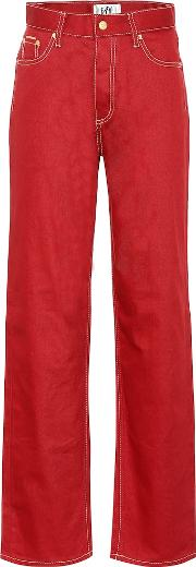 Benz Twill High Rise Wide Leg Jeans