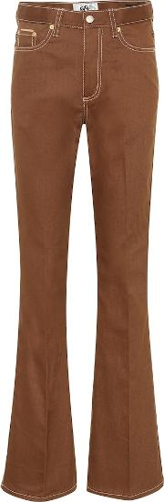 Oregon Twill High Rise Flared Jeans