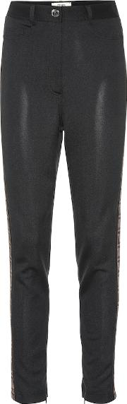 High Rise Skinny Jersey Pants