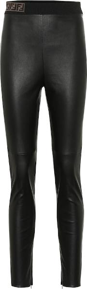 High Rise Skinny Leather Pants