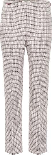 High Rise Straight Wool Blend Pants