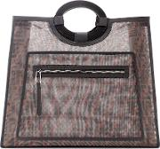 Runaway Leather Trimmed Tote