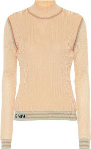 Silk Knit Turtleneck Top