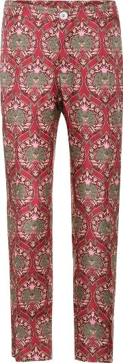 Tartaro Printed Silk Trousers