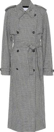 Lorna Houndstooth Wool And Cashmere Coat