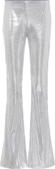 Galaxy Flared Sequinned Pants
