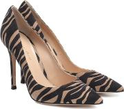 Gianvito 105 Printed Suede Pumps