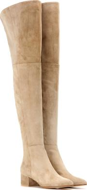 Rolling Mid Suede Over The Knee Boots