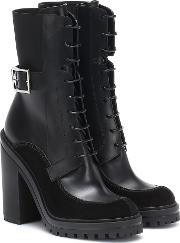 Aviator Leather Ankle Boots
