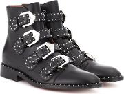 Embellished Leather Boots