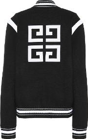 Knitted Wool Varsity Cardigan