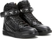 Tyson Stars Leather High Top Sneakers