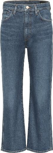 High Rise Cropped Wide Leg Jeans