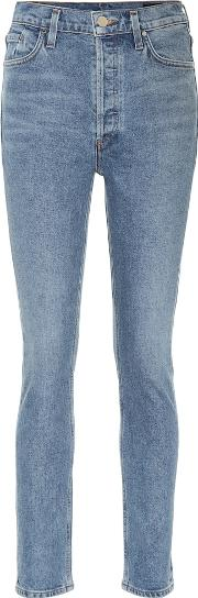 The High Rise Slim Straight Jeans