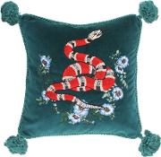 Embroidered Velvet Cushion