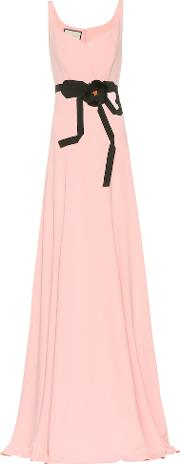 Floral Embellished Jersey Gown