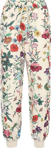 Floral Printed Jersey Trackpants