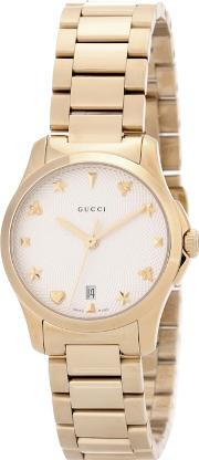 G Timeless Small Gold Plated Stainless Steel Watch