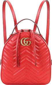 Gg Marmont Matelasse Leather Backpack
