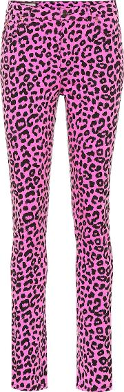 Leopard High Rise Skinny Jeans