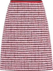 Striped Cotton And Wool Blend Skirt