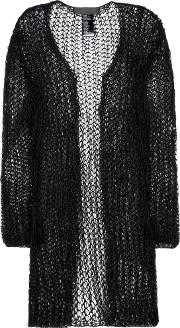 Cotton And Mohair Blend Open Cardigan