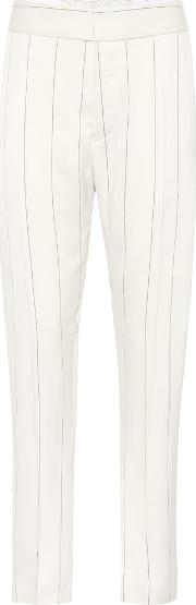 Striped Satin Trousers