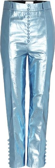 Nappa Metal Faux Leather Trousers