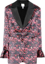 Ivy Floral Printed Silk Jacket