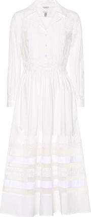 Lace Trimmed Cotton Dress