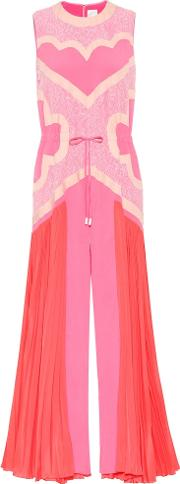 Paneled Wide Leg Jumpsuit