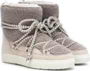 Shearling Trimmed Ankle Boots