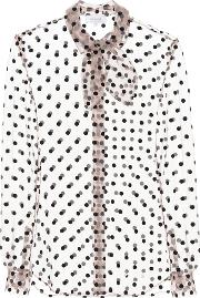 Polka Dotted Tulle Blouse