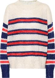 Russell Striped Mohair Blend Sweater