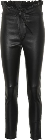 Jumpy High Rise Slim Leather Pants