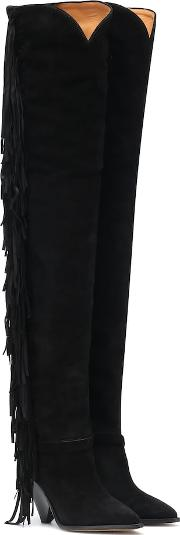 Lafstee Suede Over The Knee Boots
