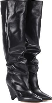 Lokyo Leather Knee High Boots
