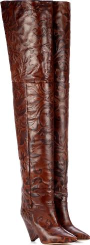 Lostynn Embossed Leather Boots