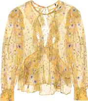 Muster Floral Silk Blend Blouse
