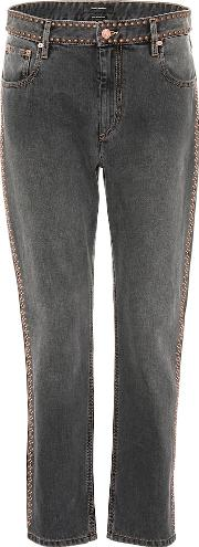 Netiff Studded Cropped Jeans