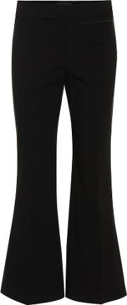 Nyree Stretch Cotton Flared Pants