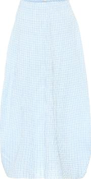 Checked Cocoon Skirt