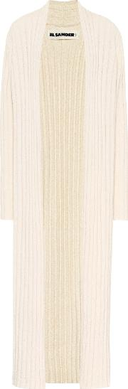 Cotton Blend Ribbed Cardigan