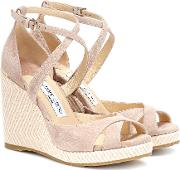 Alanah 105 Suede Wedge Sandals